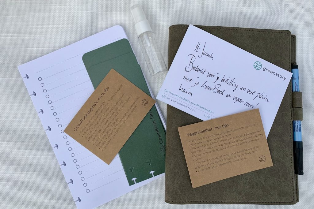 GreenBook unpacking notitieboek duurzaam