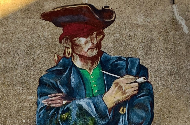 captains dinner muurschildering harlingen