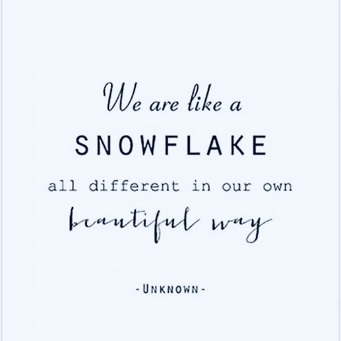 wit winter snowflake quote unknown