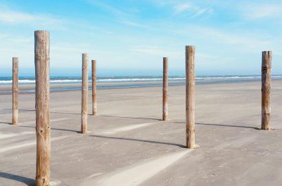 strand palen kalm wisselademhaling