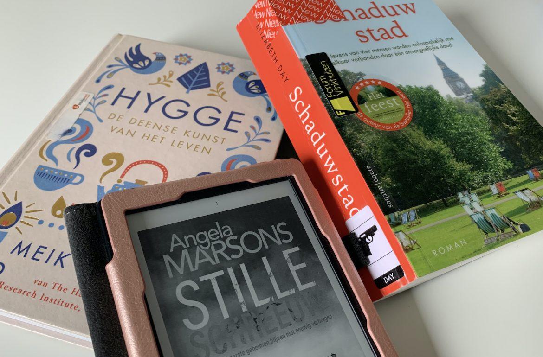 boeken maart Kim Stone Stille Schreeuw, Schaduwstad en Hygge