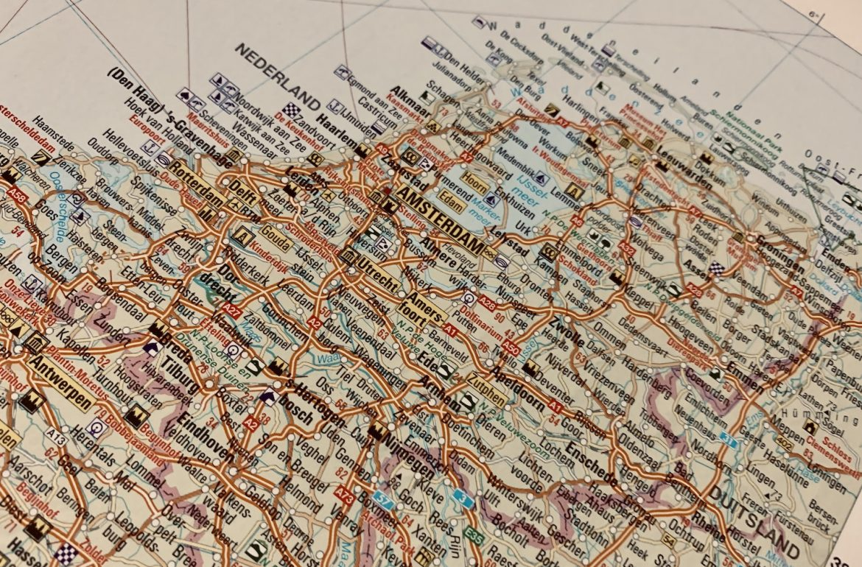 kaart Nederland cultuur snuiven