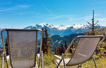 vakantietijd weekend favorieten bergen ligstoelen